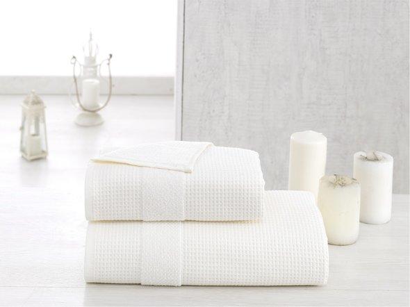 Полотенце для ванной Karna TRUVA микрокоттон хлопок (кремовый) 90*150, фото, фотография