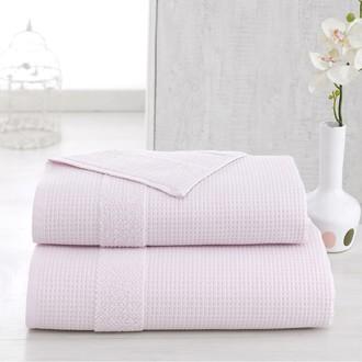 Полотенце для ванной Karna TRUVA микрокоттон хлопок (светло-розовый)