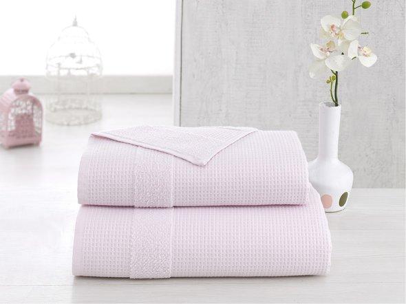 Полотенце для ванной Karna TRUVA микрокоттон хлопок (светло-розовый) 70*140, фото, фотография