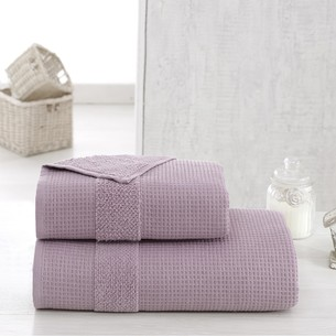 Полотенце для ванной Karna TRUVA микрокоттон хлопок светло-лавандовый 90х150