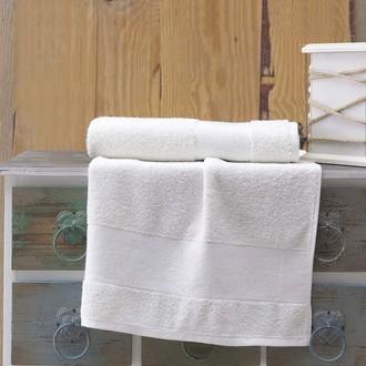 Полотенце для ванной Karna LAUREN махра хлопок (кремовый)