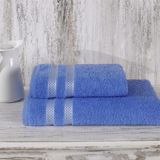 Полотенце для ванной Karna PETEK хлопковая махра голубой
