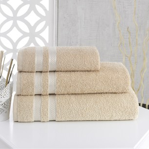 Полотенце для ванной Karna PETEK хлопковая махра бежевый 100х150