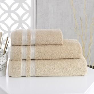 Полотенце для ванной Karna PETEK хлопковая махра (бежевый)