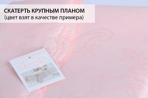 Скатерть прямоугольная Karna DERTSIZ жаккард золотистый 140х180, фото, фотография