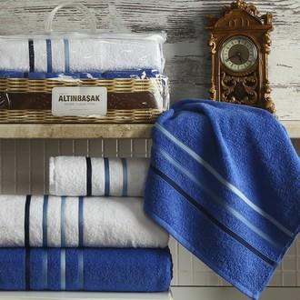 Подарочный набор полотенец Altinbasak DOLCE махра хлопок 50*90(2), 70*140(2) (белый+парламент)