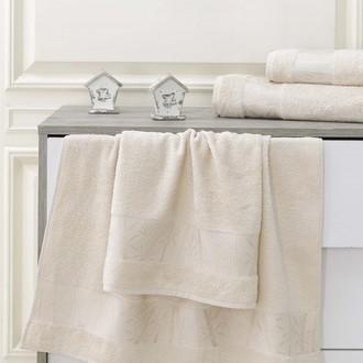 Полотенце для ванной Karna PAMIRA махра бамбук+хлопок (капучино)