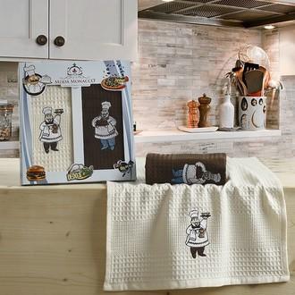 Набор кухонных полотенец Karna BLOSSOM вафля хлопок (V5)