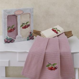 Набор кухонных полотенец Karna STOMA вафля хлопок (V1)