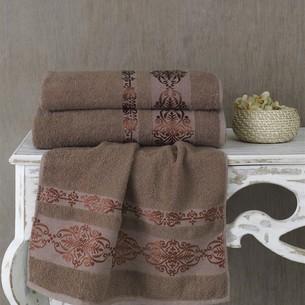 Полотенце для ванной Karna REBEKA махра хлопок коричневый 100х150