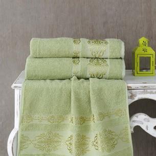 Полотенце для ванной Karna REBEKA махра хлопок тёмно-зелёный 70х140
