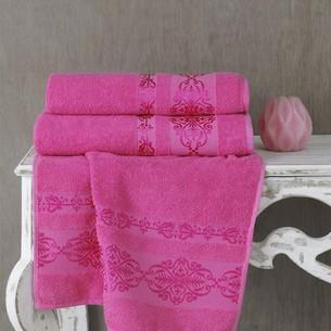 Полотенце для ванной Karna REBEKA махра хлопок розовый 50х90