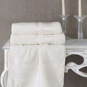 Полотенце для ванной Karna REBEKA махра хлопок кремовый 100х150