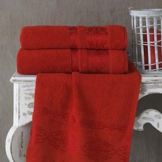 Полотенце для ванной Karna REBEKA махра хлопок (красный)