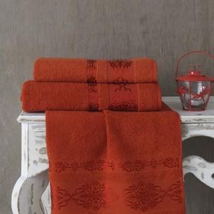 Полотенце для ванной Karna REBEKA махра хлопок кирпичный 70х140