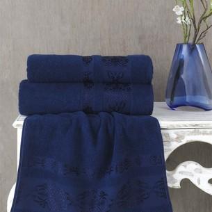 Полотенце для ванной Karna REBEKA махра хлопок синий 100х150