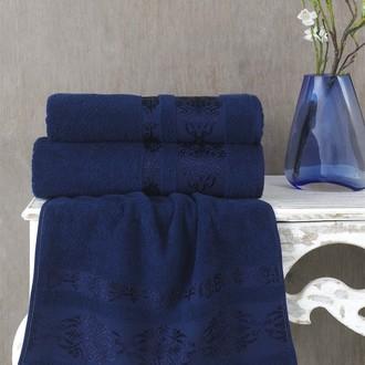 Полотенце для ванной Karna REBEKA махра хлопок синий