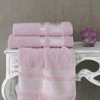 Полотенце для ванной Karna REBEKA махра хлопок грязно-розовый