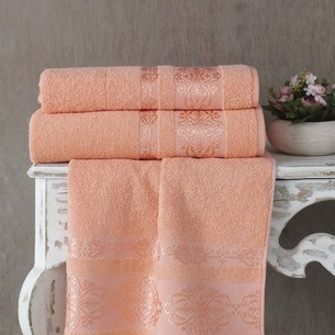 Полотенце для ванной Karna REBEKA махра хлопок абрикосовый 50х90