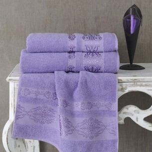 Полотенце для ванной Karna REBEKA махра хлопок сиреневый 50х90