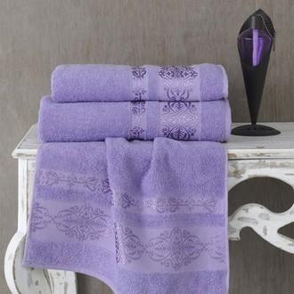 Полотенце для ванной Karna REBEKA махра хлопок (сиреневый)