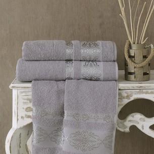 Полотенце для ванной Karna REBEKA махра хлопок серый 100х150