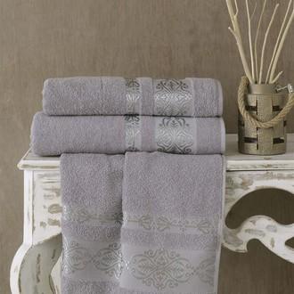 Полотенце для ванной Karna REBEKA махра хлопок серый 50*90
