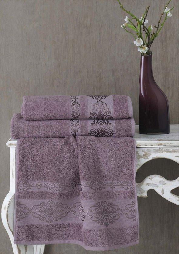 Полотенце для ванной Karna REBEKA махра хлопок светло-лавандовый 50*90, фото, фотография