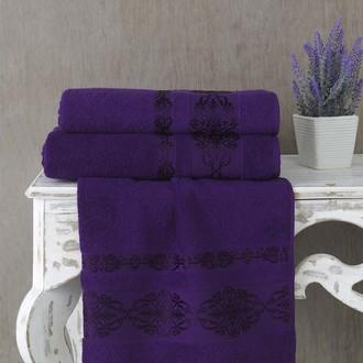 Полотенце для ванной Karna REBEKA махра хлопок (фиолетовый)