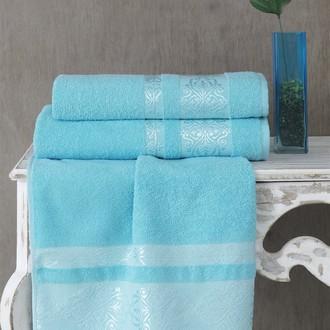 Полотенце для ванной Karna REBEKA махра хлопок (бирюзовый)