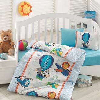 Комплект постельного белья в кроватку Cotton Box BABY LINE UCAN DOSTLAR ранфорс хлопок