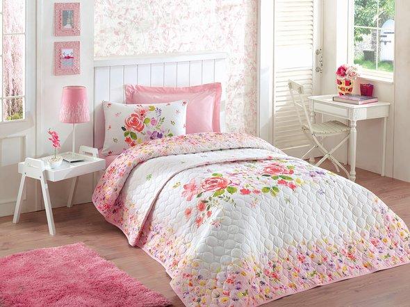 Комплект постельного белья с покрывалом-одеялом Cotton Box SUMMER SET HELYA сатин хлопок, фото, фотография