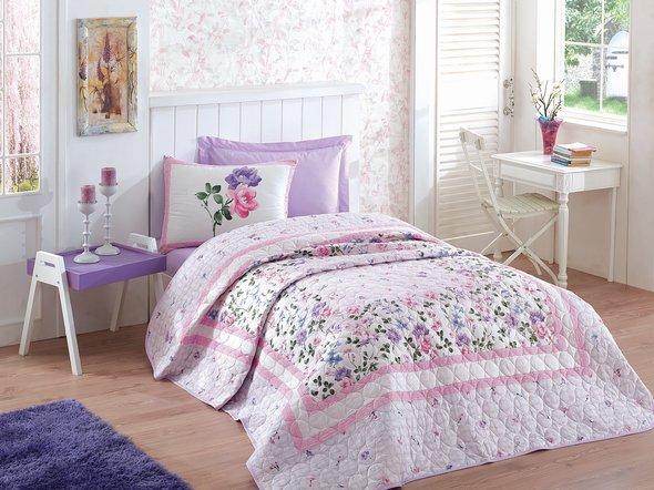 Комплект постельного белья с покрывалом-одеялом Cotton Box SUMMER SET MESI сатин хлопок, фото, фотография