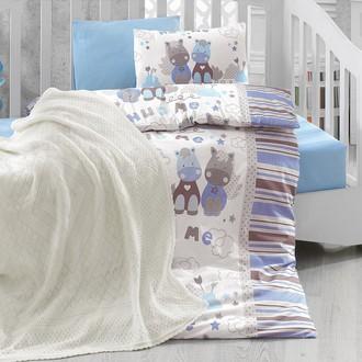 Комплект постельного белья с пледом Cotton Box BABY LINE MIDILLI ранфорс хлопок