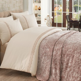 Комплект постельного белья с покрывалом Cotton Box EMBOSS (бежевый)