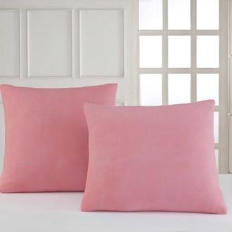 Набор наволочек Karna трикотаж хлопок (розовый)