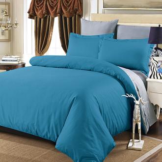 Комплект постельного белья Modalin SANFORD сатин хлопок (саксен+серый)