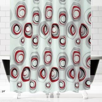 Штора для ванной Evdy DROP полиэстер (V14)