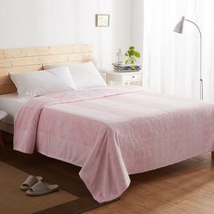 Плед-покрывало Karna PALMA велсофт розовый 220х240