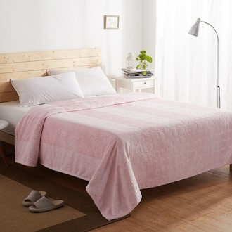 Плед-покрывало Karna PALMA велсофт (розовый)