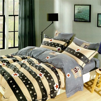 Комплект постельного белья Karna DELUX KARULA сатин хлопок