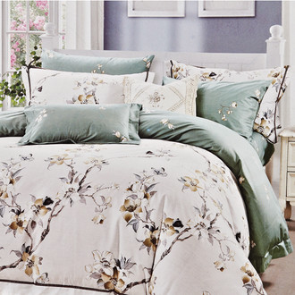 Комплект постельного белья Karna DELUX LAVEM сатин хлопок