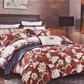 Комплект постельного белья Karna DELUX REGATA сатин хлопок