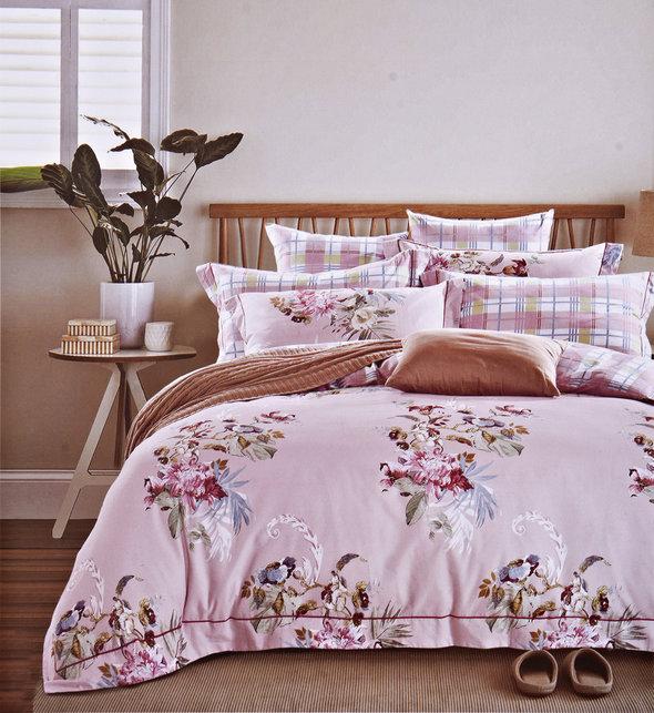Комплект постельного белья Karna DELUX NEROLI сатин хлопок евро, фото, фотография