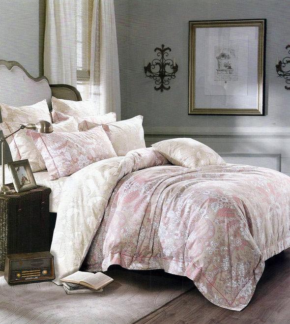 Комплект постельного белья Karna DELUX DONNA сатин хлопок евро, фото, фотография