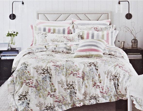 Комплект постельного белья Karna DELUX SUENA сатин хлопок евро, фото, фотография