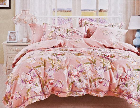 Комплект постельного белья Karna DELUX SINETRA сатин хлопок евро, фото, фотография