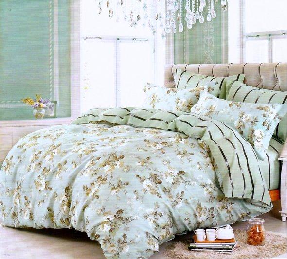 Комплект постельного белья Karna DELUX PANSY сатин хлопок евро, фото, фотография