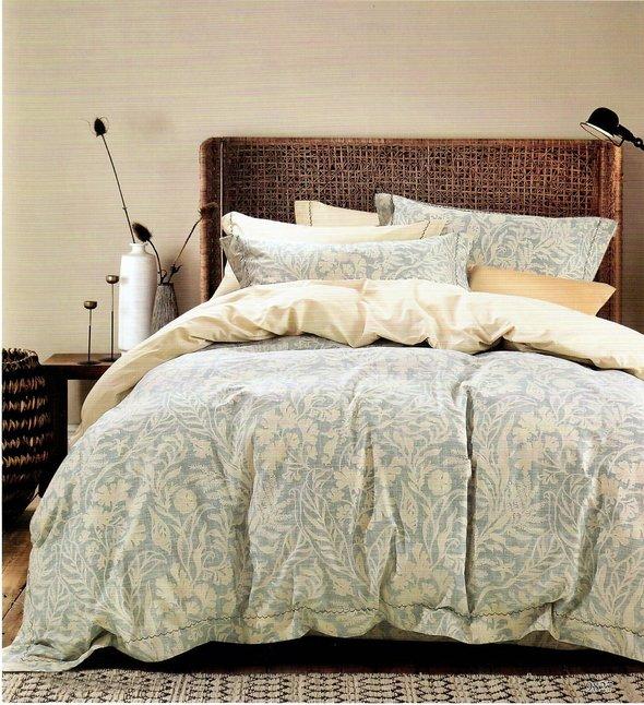 Комплект постельного белья Karna DELUX RENE сатин хлопок евро, фото, фотография