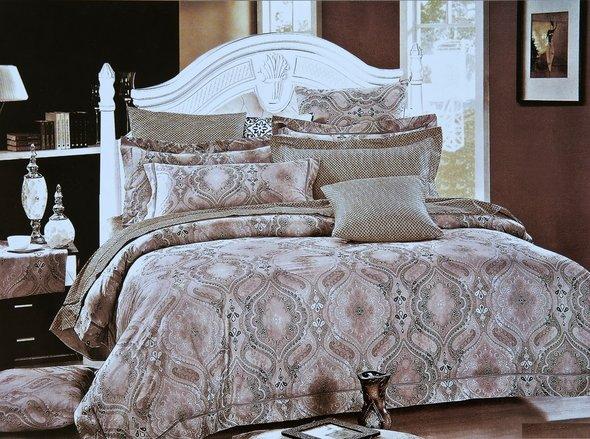 Комплект постельного белья Karna DELUX DECOL сатин хлопок евро, фото, фотография